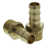Legris Brass 3/8 in BSPT Male x 10 mm Barbed Male Straight Threaded Fitting