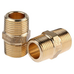 Legris Brass 3/8 in BSPT Male x 3/8 in BSPT Male Straight Adapter Threaded Fitting