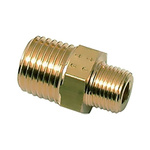 Legris Brass 3/8 in BSPT Male x 1/8 in BSPT Male Straight Adapter Threaded Fitting