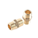 Legris Brass 1/2 in BSPT Male x 1/2 in BSPT Male Straight Adapter Threaded Fitting