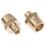 Legris Brass 1/2 in BSPT Male x 1/4 in BSPT Male Straight Adapter Threaded Fitting