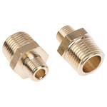 Legris Brass 1/2 in BSPT Male x 1/8 in BSPT Male Straight Adapter Threaded Fitting
