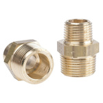 Legris Brass 3/4 in BSPT Male x 1/2 in BSPT Male Straight Adapter Threaded Fitting