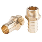 Legris Brass 1 in BSPT Male x 25 mm Barbed Male Straight Tailpiece Adapter Threaded Fitting