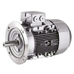 Siemens 1LE1 Reversible Induction AC Motor, 1.1 kW, IE2, 3 Phase, 2 Pole, 230 V, 400 V, Flange Mount Mounting
