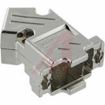 connector accessory,d-sub,metalized plastic hood,45 degree exit,for 9 contact