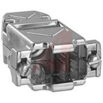 connector accessory,d-sub,straight metalized plastic backshell for 9 contact