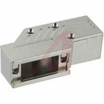 connector accessory,d-sub,90 degree exit metal hood,ultra low profile,std 9 cont