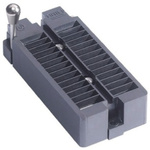 Aries Electronics 2.54mm Pitch 24 Way Through Hole DIP Test Sockets