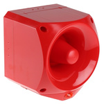 Klaxon Nexus Pulse Sounder Beacon 110dB, Red LED, 17 → 60 V dc, IP66