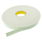 3M SCOTCH 4032 White Foam Tape, 25mm x 66m, 0.8mm Thick