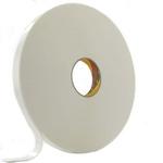 3M 4430P White Foam Tape, 25mm x 66m, 0.88mm Thick