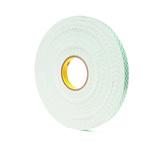 3M 4016 White Foam Tape, 19mm x 13.7m, 1.6mm Thick