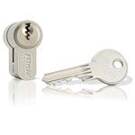 Dom Metalux Steel Euro Cylinder Lock, 35/35 (70)