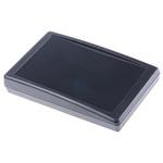 Pactec SH, Sloped Front, ABS, 146.5 x 91.44 x 28.8mm Desktop Enclosure, Black