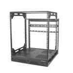 12U Server Rack With Steel 4-Post Frame in Black