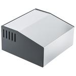 Hammond 500, Sloped Front, Aluminium, Steel, 180 x 196 x 100mm Desktop Enclosure, Grey