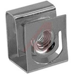 Clip Nut; 10-32; clip; Zinc Plated; Round Hole Punched Rails