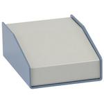 Hammond 1456, Sloped Front, Aluminium, 357 x 183 x 102mm Desktop Enclosure, Beige, Blue