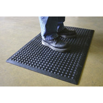 COBA Bubblemat Interlocking End Mat Rubber Anti-Fatigue Mat x 600mm, 900mm x 14mm