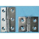Pinet Nickel Plated Steel Concealed Hinge Screw, 30mm x 40mm x 1.2mm