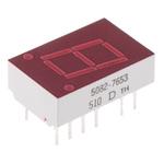5082-7653-DE000 Broadcom 7-Segment LED Display, CC Red 1.1 mcd RH DP 10.9mm