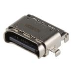 TE Connectivity USB Connector, SMT, Socket 3.1 C, Solder, Straight- Single Port IPX4