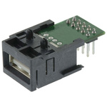 Harting, har-Port USB Connector, Through Hole, Socket 2.0 A, Solder, Right Angle- Single Port