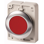 Eaton Flush Red Push Button - Momentary, M30 Series, 30mm Cutout, Round