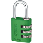 ABUS 145/30 Green All Weather Aluminium, Steel Safety Padlock 30mm