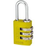ABUS 145/20 Yellow All Weather Aluminium, Steel Safety Padlock 20mm