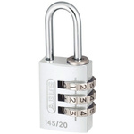 ABUS 145/20 Silver All Weather Aluminium, Steel Safety Padlock 20mm