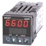 West Instruments N6600 PID Temperature Controller, 48 x 48 (1/16 DIN)mm, 1 Output Relay, 24 → 48 V ac/dc Supply