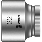 Wera 22mm Hex Socket With 3/8 in Drive , Length 30 mm
