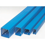 Betaduct Blue Slotted Panel Trunking - Open Slot, W25 mm x D50mm, L1m, PVC