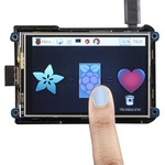 ADAFRUIT INDUSTRIES, PiTFT Plus with 3.5in Resistive Touch Screen