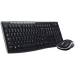 Logitech Keyboard Compact, QWERTY (UK) Black (Keyboard), Black/Grey (Mouse)
