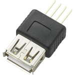 CIE, CLB-JL USB Connector, Through Hole, Socket A A, Solder- Single Port