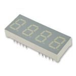 CC04-41SYKWA Kingbright 4 Digit 7-Segment LED Display, CC Yellow 11 mcd RH DP 10.2mm