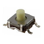 Natural, White Round Tactile Switch, Single Pole Single Throw (SPST) 50 mA 2.5 (Dia.)mm PCB