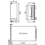 Schroff 5 → 15V dc 1.3 A, 2 A, 8 A Power Supply 90 → 254V Input, 100W