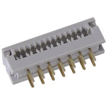 Harting 34-Way IDC Connector Plug for  Through Hole Mount, 2-Row