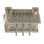 HARTING 6-Way IDC Connector Plug for  Through Hole Mount, 2-Row