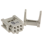 Harting 6-Way IDC Connector Socket for Cable Mount, 2-Row