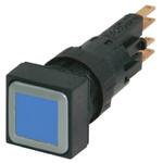 Eaton, RMQ16 Illuminated Blue Square, 16mm Momentary Push In