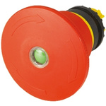 Eaton Mushroom Red Emergency Stop Push Button - Latching, M22 Series, 22mm Cutout, Round