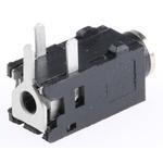 Lumberg 2.5 mm Through Hole Stereo Jack Socket, 3Pole 500mA