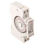 1 Channel Analogue DIN Rail Time Switch Measures Minutes, 220 → 240 V ac