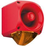 Klaxon Nexus Sounder Beacon 110dB, Amber Xenon, 10 → 60 V dc