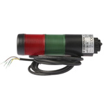 Werma Kompakt 37 LED Beacon Tower With Buzzer, 2 Light Elements, Red/Green, 24 V ac/dc
